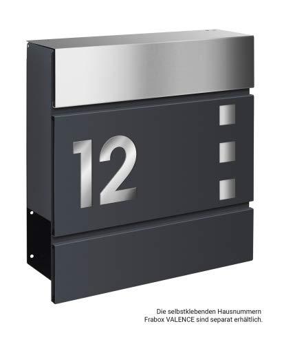 Frabox Design Briefkasten LENS Edelstahl / Anthrazitgrau Exklusiv - 4