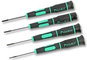 SCREWDRIVER SET - TRI WING (4PC) SD-081G By PRO'S KIT