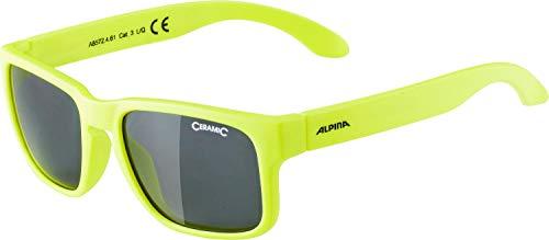 Alpina Unisex Jugend MITZO Sonnenbrille, gelb, One Size