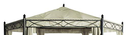 DEGAMO Ersatzdach für Pavillon Castello 6-eckig 3,5 Meter, naturfaben, wasserdicht