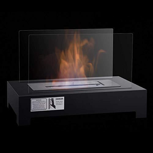 Costway biocamino tavolo camino a bioetanolo da tavolo con bruciatore da 1,5l, due dimensioni disponibili (46 x 28 x 30 cm)
