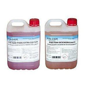 Productos de Limpieza PIM-PAM ¡PACK AHORRO! FREGASUELOS EXTRA COTTON PERFUMADO 5L + DESENGRASANTE LÍQUIDO ALCALINO 5L