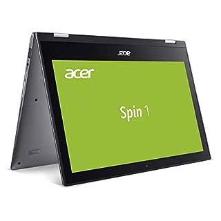 Acer Spin 1 (SP111-34N-P3RH) 29,5 cm (11,6 Zoll Full-HD IPS Multi-Touch) Convertible Notebook (Intel Pentium N5000, 4 GB RAM, 128 GB eMMC, Intel UHD, Win 10 Home) grau