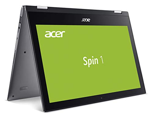 Acer Spin 1 (SP111-34N-P3RH) 29,5 cm (11,6 Zoll Full-HD IPS Multi-Touch) Convertible Notebook (Intel Pentium N5000, 4 GB RAM, 128 GB eMMC, Intel UHD, Win 10 Home) grau