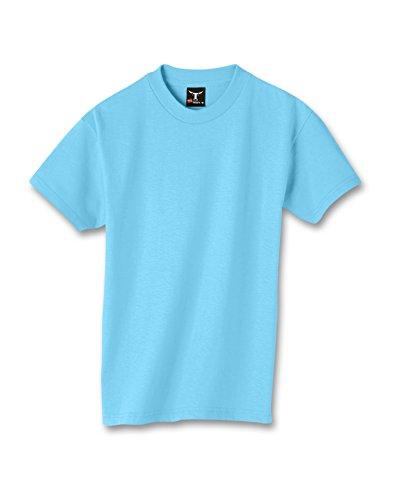 hanes-t-shirt-manches-courtes-homme-turquoise-bleu-sarcelle-bleu-s