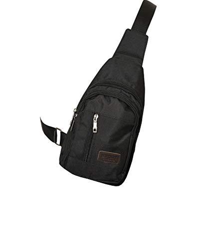 Mesch Sportswear Crossbag Bodybag Pack Bag x-Over Sling Messengerbag Kuriertasche Outdoor (Schwarz)