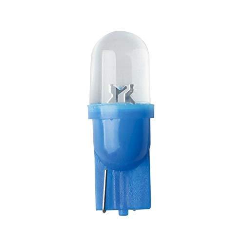 AMPOULE LED 12V T10 W2.1x9.5D BLEU 5 LUMEN UNIVERSELLE VOITURE TABLEAU DE BORD INTERIEUR COMPTEUR PLAQUE IMMATRICULATION PLAFONNIER