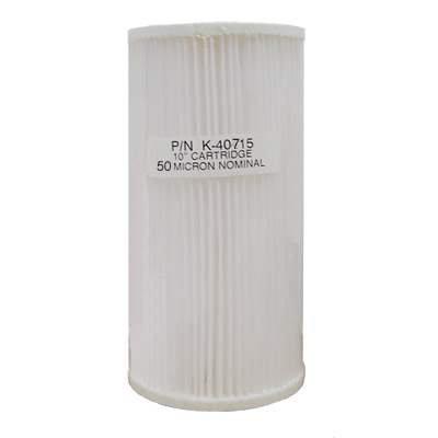 Unicel (K-40715-B) Polyesterfilter, 50 Mikron, 25,4 x 11,4 cm, groß, Blau (Culligan-wasser-filter)