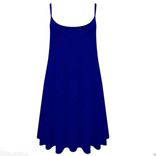 Fashion 4 Less - Robe - Patineuse - Sans Manche - Femme bleu roi