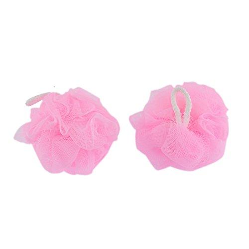 sourcingmapr-maille-bain-douche-eponge-pouf-corps-tampon-a-recurer-amarante-rose-2-pcs