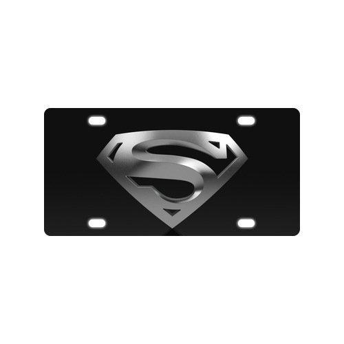 BNHF Vintage Designed Super Hero Superman Logo Metal License Plate for Car 4