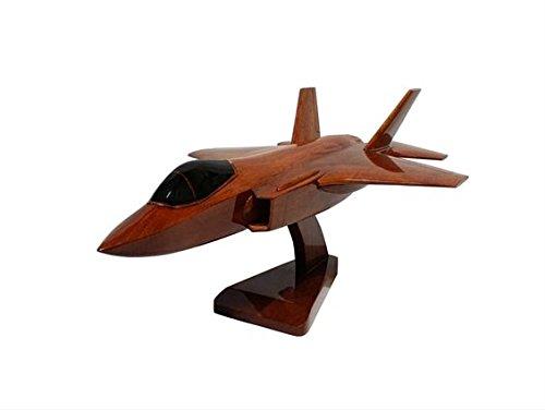 lockheed-martin-f-35-lightning-ii-raf-aviones-modelo-escritorio-de-madera-ejecutivo-caoba