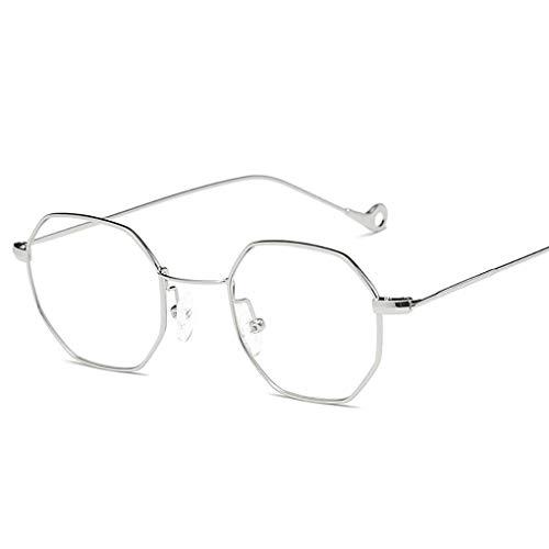 Junecat Männer Frauen Polygonal Sonnenbrille Unisex Kleines Octagon Sonnenbrillen UV-Schutz im Freien Sportbrille (Frauen Sonnenbrillen Fehler)