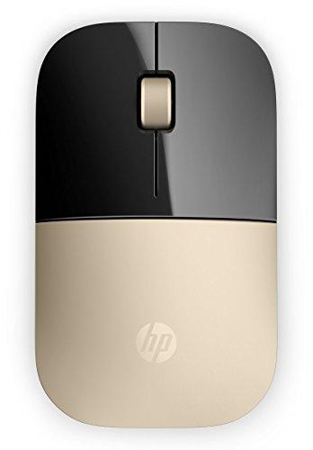 Hp Wireless Computer Von Mouse (HP Z3700 (X7Q43AA) kabellose Maus (1200 optische Sensoren, bis zu 16 Monate Batterielaufzeit, USB Anschluss, Plug&Play) gold)