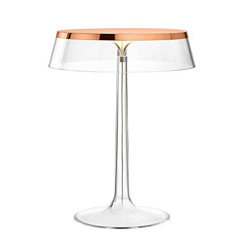 Flos Bon Jour Lampe de table avec structure cuivre et abat-jour transparente 220 Volt