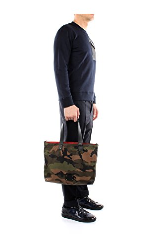 HYR00374AP1302B31 Valentino Garavani Sacs de shopping Homme Tissu Rouge Rouge