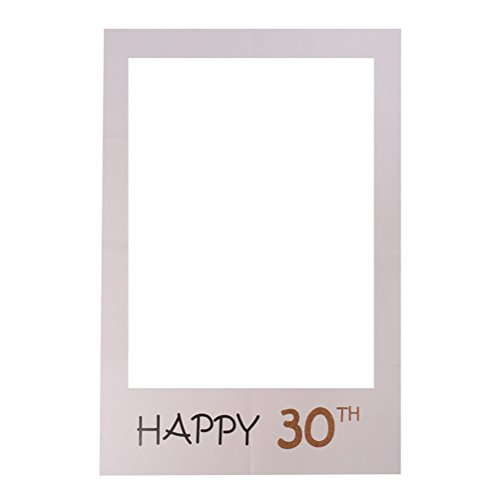 BESTOYARD Happy 30th Birthday DIY Papier Bilderrahmen Ausschnitte Photo Booth Props für Geburtstagsfeier Lieferanten
