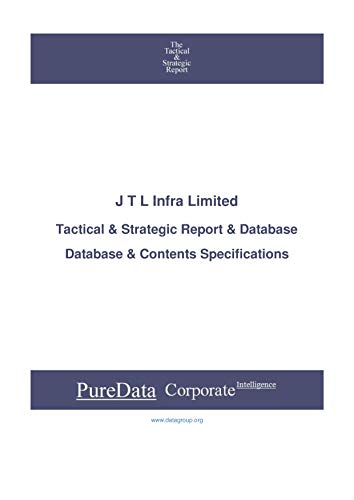 J T L Infra Limited: Tactical & Strategic Database Specifications (Tactical & Strategic - India Book 30245) (English Edition) -