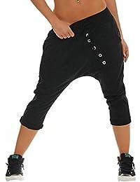 Pantalon Court pour Femmes Baggy 3 Boyfriend 4 Pants breal Capri Survêtement  Pantalon Loose Fit Loisirs 80335be11fc