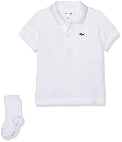Lacoste Baby-Jungen Poloshirt 4J2852, Weiß (Blanc/Multicolore Flamant-Multicolore Flamant), 0-12 Monate (Herstellergröße: 12M)