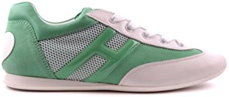 Hogan Mujer MCBI148056O Verde Cuero Zapatillas  Venta de calzado deportivo de moda en línea