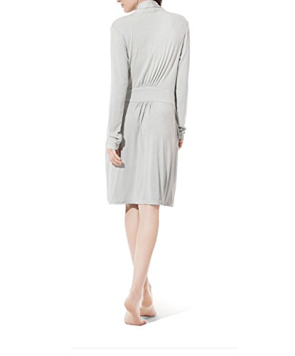 Ms. Primavera E Autunno Coppie Camicia Da Notte Pigiama Homewear Tute A Maniche Lunghe Robes In The Long-sleeved Personal Absorbent Grey