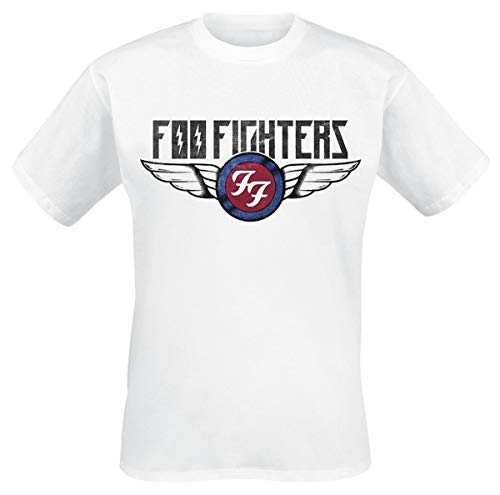 Foo fighters flash wings t-shirt bianco m