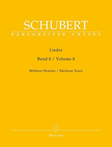 Lieder, Band 8 (Mittlere Stimme). Singpartitur, Sammelband, BRENREITER URTEXT