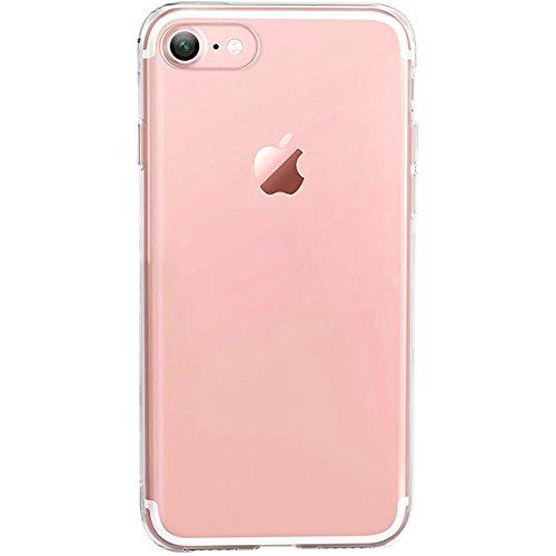 GIRLSCASES® | iPhone 8 / 7 Hülle | Im Macaron Girly Look aus Silikon | Fashion Case transparente Schutzhülle 1x Transpartent