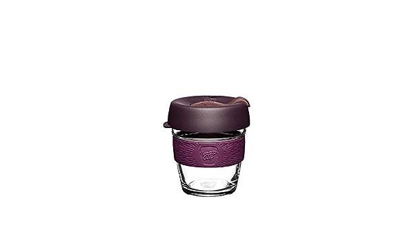 KeepCup Brew Cork, Reusable Glass Cup, Extra Small 6oz   177mls, Alder