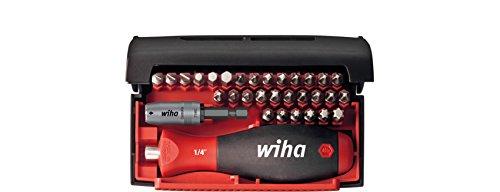 """Wiha Bit Collector Standard 32-teilig/Gemischtes Schrauberbit-Set inkl. Bithalter mit Handgriff und Schnellwechselhalter / 1/4\"""""""