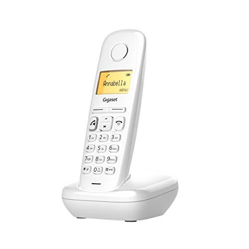 Oferta de Gigaset A270 - Teléfono inalámbrico manos libres, gran pantalla iluminada, agenda 80 contactos, color blanco