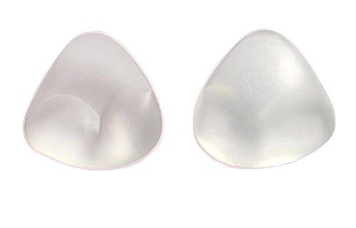 ush-up Brust-Pads-Einsätze für Badeanzug und BH, perfekt für Triangel-Top-BHs, Bikini-Oberteile und einteilige Badeanzüge (Transparent) ()