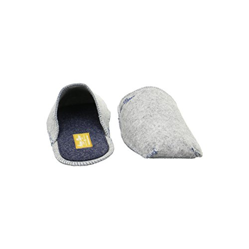 Happy Slipper Happy Filz Five Herren Hausschuhe Grau