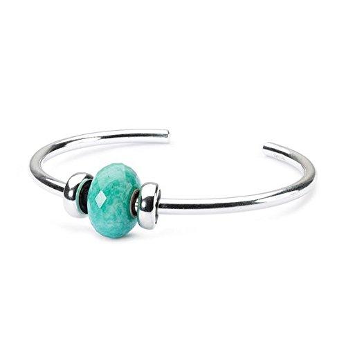 Trollbeads 925distanziali verde amazzonite bead braccialetto in argento sterling bracciale xs
