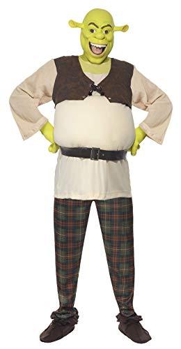 Shrek Kostüm enthält Oberteil Hose Hände und Maske, Large (Herren Shrek Kostüm)