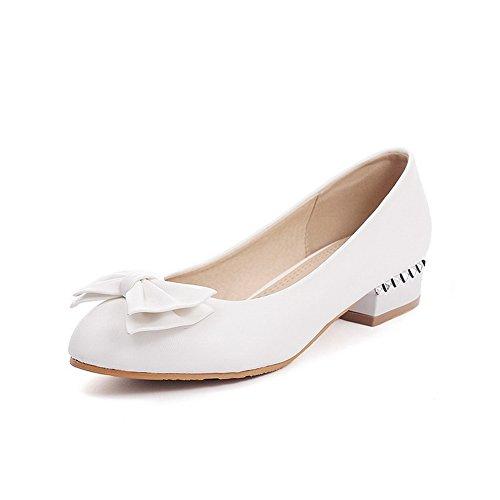 BalaMasa da donna, tacco basso, in pelle, per scarpe pompe superiore White