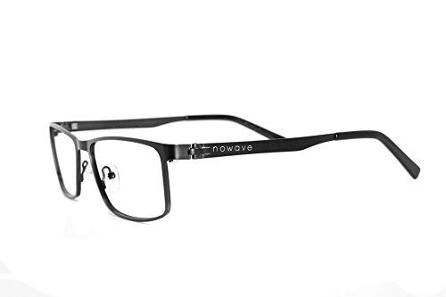 NOWAVE Gafas neutrales antifatiga para ordenador, tableta, televisor y gaming / videojuegos. Evitan la fatiga visual. Gafas antireflejos para pantalla. Monturas en metal muy ligeros. Filtro para monitor. Accesorios de oficina y estudio. Antiluz azul 40% y anti UV 100%. De moda 2017 - Spektrum