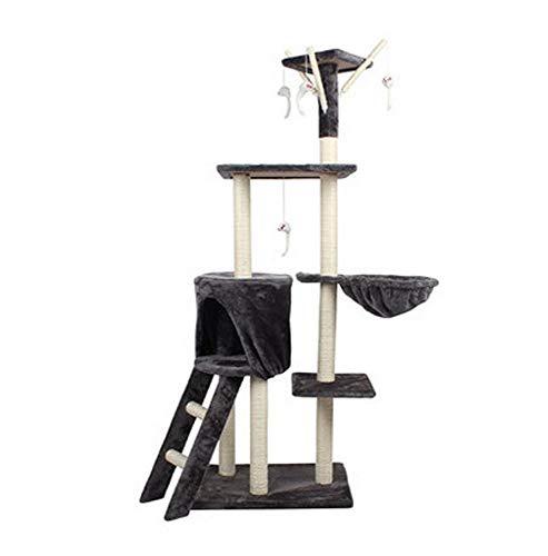 Kaxima albero per gatti cinque piani gigante sisal piattaforma gatto gatto nido gatto graffiare board gatto mensola gatto dell'animale domestico giocattolo del gatto 138 * 50 * 35cm