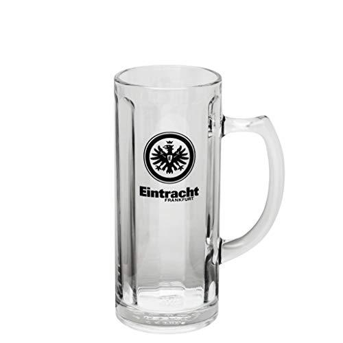 Eintracht Frankfurt Bierseidel 0,5 l Logo Glas, Bierglas, Bierhumpen, Bierkrug SGE - Plus Lesezeichen I Love Frankfurt
