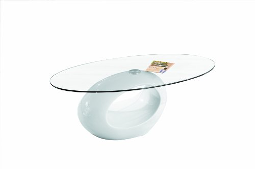Inter Link 50100120 Couchtisch weiß hochglanz Glastisch Wohnzimmertisch Wohnzimmer Tisch modern NEU