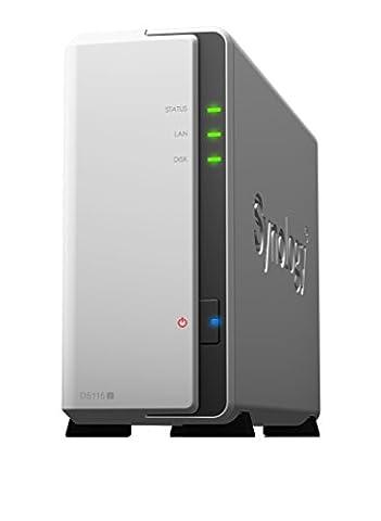 Synology DS115J Serveur de Stockage NAS pour Disque dur Externe - Blanc