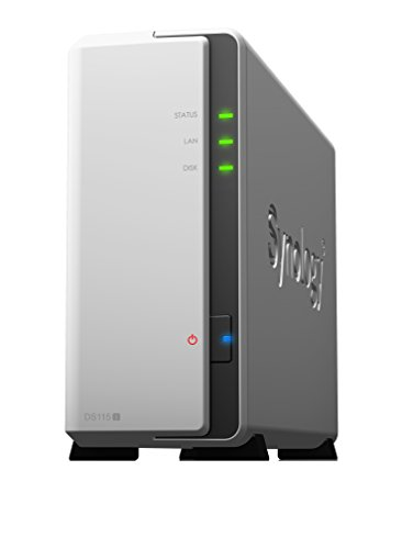 Synology DS115J NAS-Server (Marvell Armada 370 Prozessor, 800MHz, SATA, Gigabit-LAN, 1-Bay)