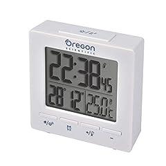 Idea Regalo - Oregon Scientific RM511 Orologio Radiocontrollato con Doppio Allarme Sveglia, Bianco