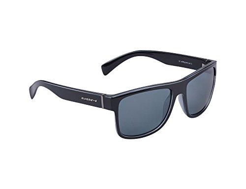 Avenue- sportlcih verspiegelte Brille im Wayfarer Look-Antifog/Antiscratch-Beschichtung (schwarz)
