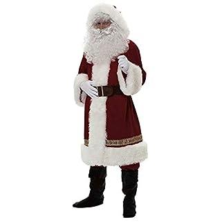 Ukrain Traje de Papá Noel de Felpa para Adultos, Disfraz de Papá Noel para Cosplay