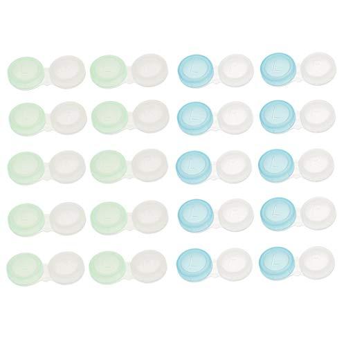 20 Stück Mini-Boxen für Kontaktlinsen für Tasche Weichmacher Lösung Reise. -