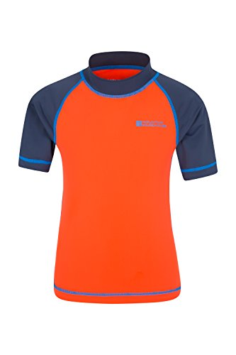 mountain-warehouse-kurzarmlige-kinder-rash-guard-badeshirt-sonnenschutz-orange-140