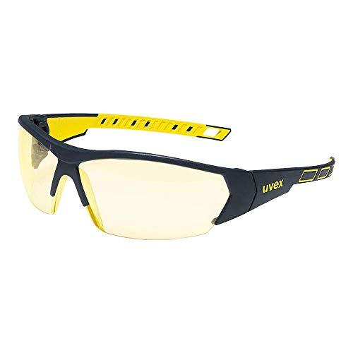 Uvex 9194365 i-works Schutzbrille - Arbeitsbrille - Gelb - 1 Stück