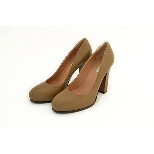 Decolte' Tiffi, in pelle color taupe, taglia: 40